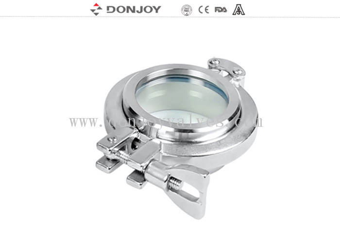 DONJOY quality clamp union sight glass with tempered glass 120 degree max temperature